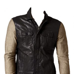 Classily styled leather vest for men