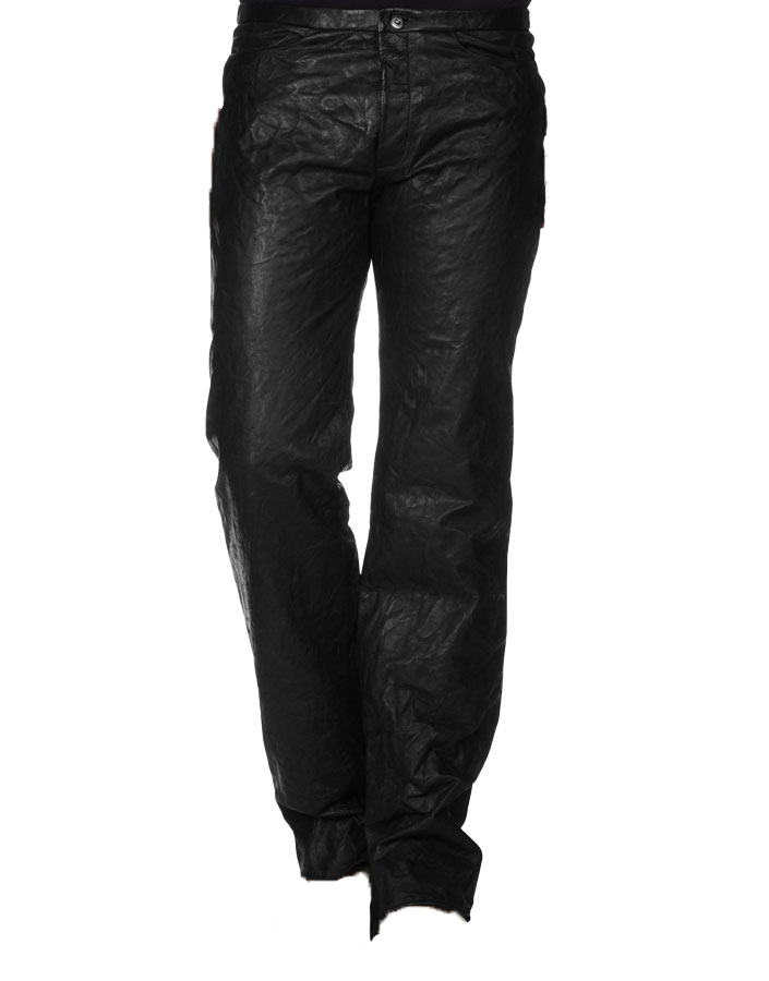 Strong colored leather pant for men