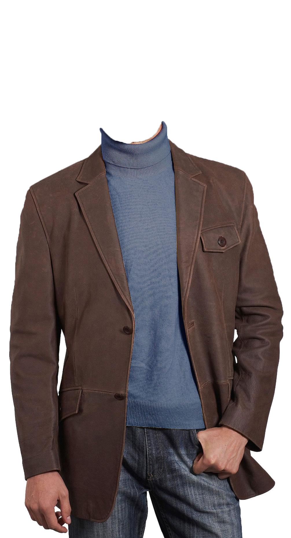 Blazers For Men Pinterest: Stylish Leather Blazer For Men