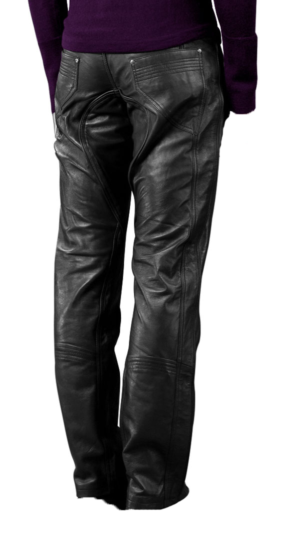 Trendy low cut leather pant for men