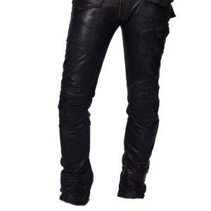 Vintage Moto Lambskin leather pant for men