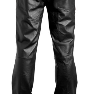 Restless denim style mens leather pants
