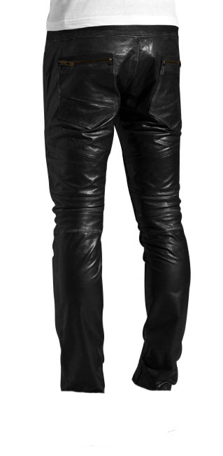Tricky and downtown styled leather pant