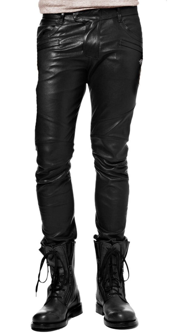 Hero style leather pant for men