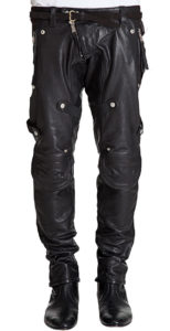 Unmistakably unique leather pant for men