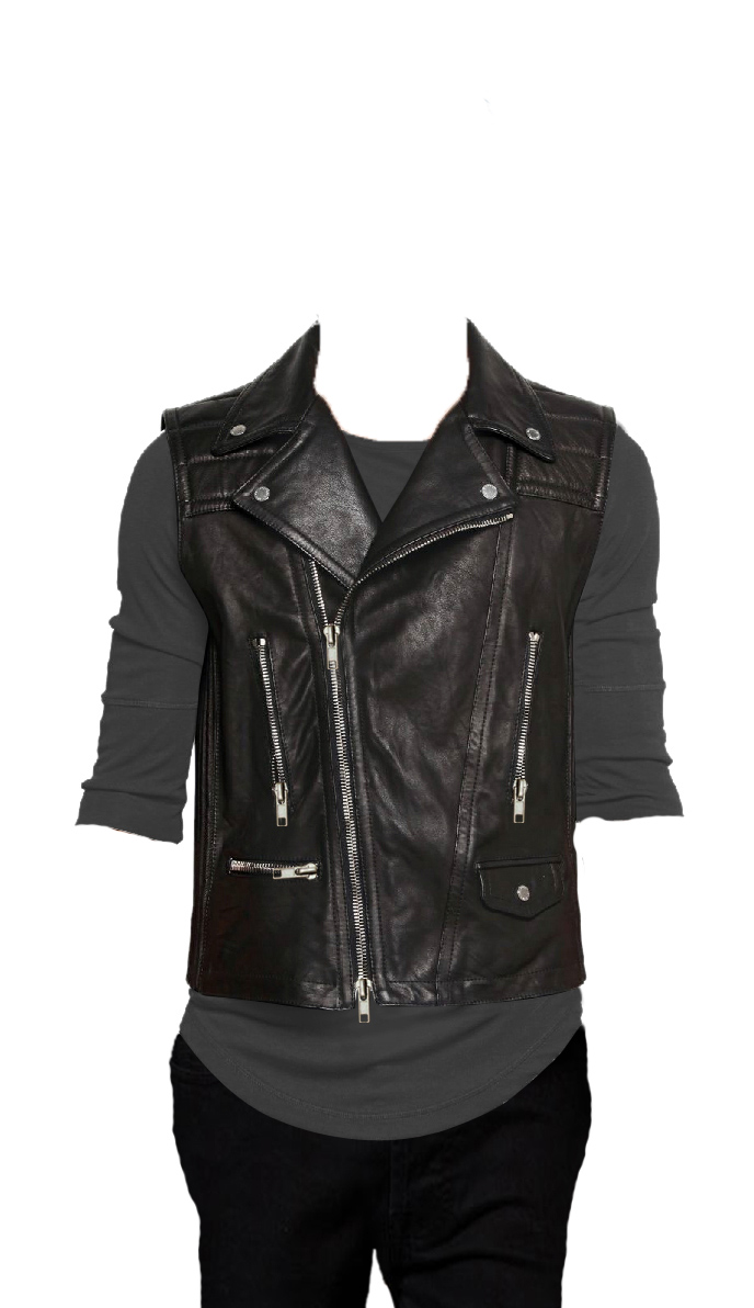 Energetic bikers elan leather vest for men