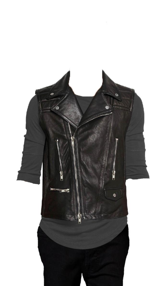Energetic bikers elan leather vest for men