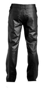 Restless denim style mens leather pants