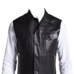 Exquisite formal wear leather vest