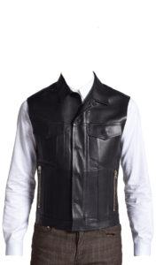 Exquisite formal wear leather vest