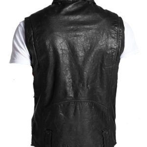 Cool leather vest with a tough look