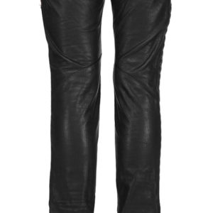 Diamond tailored skin fit leather pant